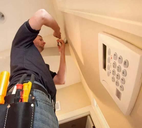 Монтаж сигнализации дома