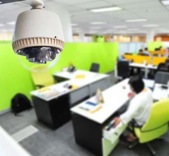 монтаж камер в офисе
